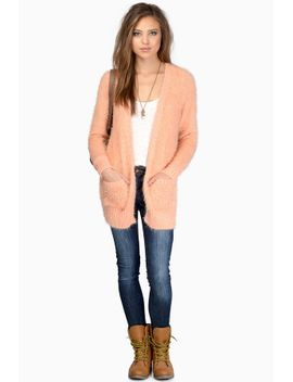 tastemaker-pink--knitted-cardigan by tobi