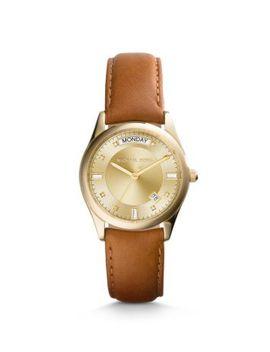 colette-gold-tone-and-leather-watch by michael-kors
