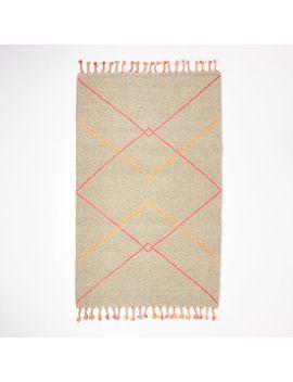 kate-spade-saturday-neon-diamond-wool-rug---heather-gray_neon-pink by west-elm