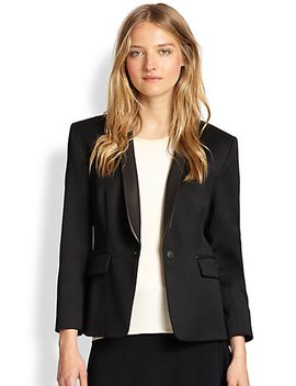 harper-leather-trimmed-wool-tuxedo-blazer by rag-&-bone
