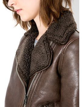 shearling-lined-leather-jacket by mango