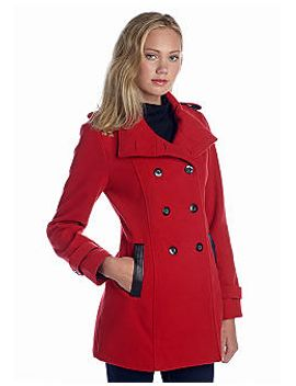 wool-coat-with-faux-leather-trim---online-only by a-byer