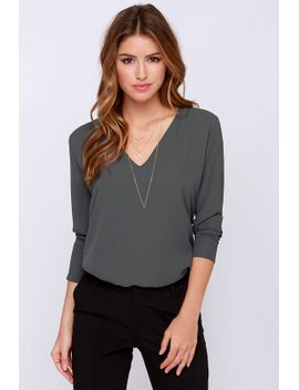 come-what-may-grey-long-sleeve-top by lulus
