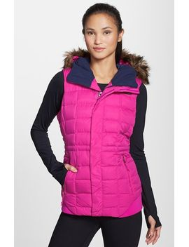 quilted-goose-down-vest-with-removable-faux-fur-trim by the-north-face