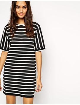 asos-stripe-tee-shirt-dress by asos-collection