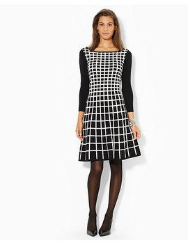 geometric-sweater-dress by ralph-lauren