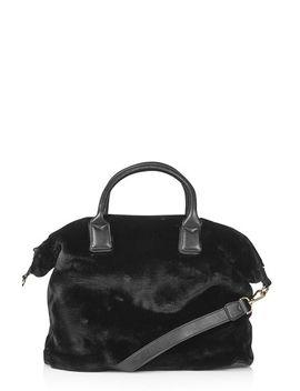 faux-fur-carryall-bag by topshop