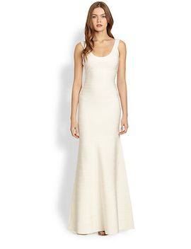 scoopneck-gown by herve-leger