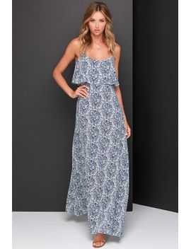 island-time-ivory-and-navy-blue-print-maxi-dress by lulus