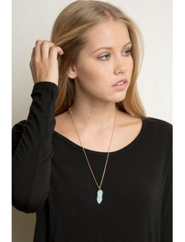 opal-stone-necklace by brandy-melville