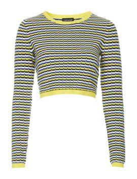 geo-textured-jumper by topshop