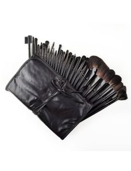 dragonpad-32-pcs-black-rod-makeup-brush-cosmetic-set-kit-with-case by dragonpad