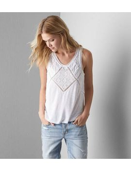 aeo-embroidered-lace-tank by american-eagle-outfitters