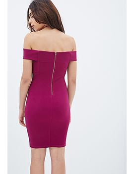 off-the-shoulder-bodycon-dress by forever-21