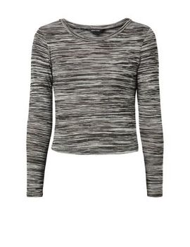 grey-space-dye-long-sleeve-top by new-look
