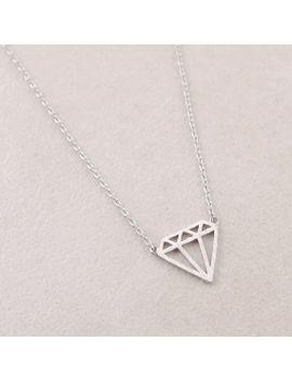 flat-diamond-shaped-necklace-in-silver by bkandjio
