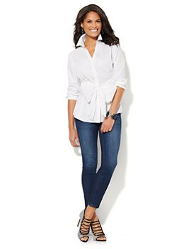 bow-front-shirt by new-york-&-company