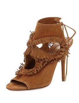 sexy-fringe-suede-tie-back-sandal,-cognac by aquazzura