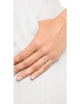 14k-gold-pave-gold-diamond-x-ring by ef-collection