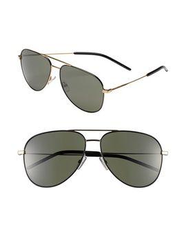 59mm-aviator-sunglasses by saint-laurent