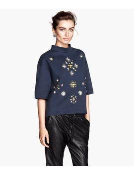 beaded-sweatshirt by h&m