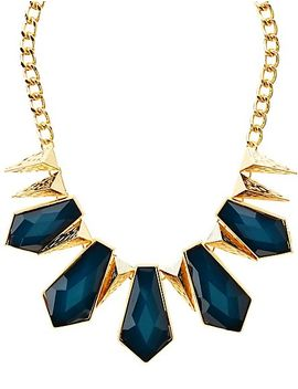 glitter-gem-&-spike-statement-necklace by charlotte-russe