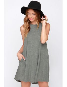 rvca-sucker-punch-olive-green-dress by rvca