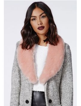 rebel-long-faux-fur-collar-blush by missguided