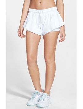 barricade-double-layer-shorts by adidas-by-stella-mccartney