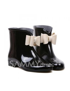 sweet-womens-rain-boots-with-bowknot-and-color-matching-design by sammy-dress