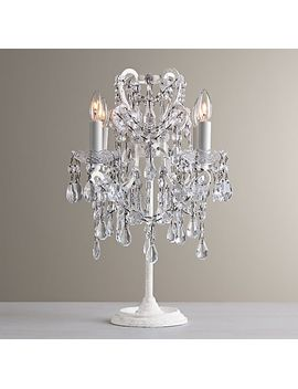 Manor Court Crystal Table Lamp   Vintage White by Rh Baby&Child