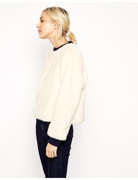 asos-white-faux-fur-jumper by asos-white
