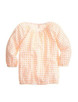 girls-peasant-top-in-clip-dot by jcrew