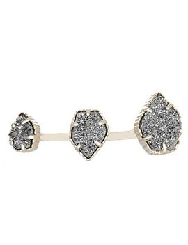 naomi-double-ring-in-platinum-drusy by kendra-scott