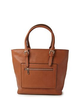 textured-faux-leather-tote by forever-21