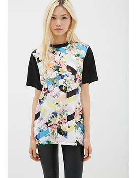 geo-floral-print-tee by forever-21