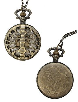 rib-cage-pocket-watch-necklace by hot-topic