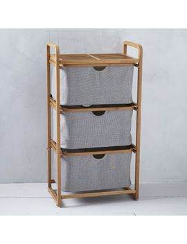 bamboo-laundry---triple-shelving-hamper by west-elm