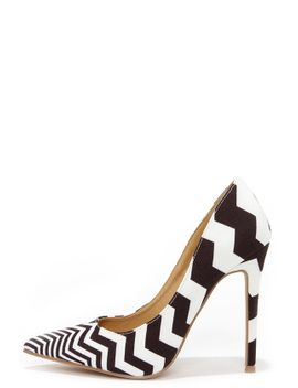 vip-lines-black-and-white-striped-pointed-pumps by lulus