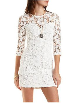 bodycon-floral-lace-dress by charlotte-russe
