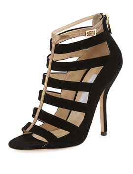 fathom-strappy-cage-bootie,-black_gold by jimmy-choo