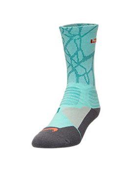 mens-nike-lebron-hyper-elite-basketball-crew-socks---large by nike
