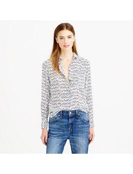 classic-silk-blouse-in-key-print by jcrew