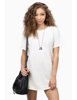 in-short-ivory-tunic-dress by tobi