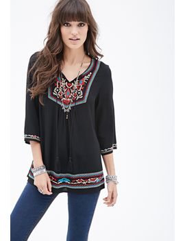 prairie-embroidered-tunic-top by forever-21