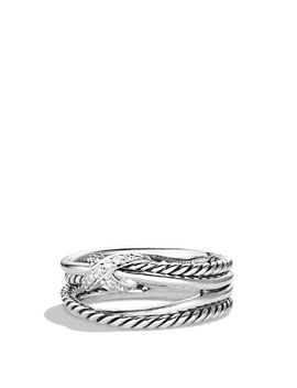 x-crossover-ring-with-diamonds by david-yurman
