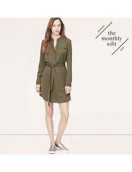 tie-waist-shirtdress by loft