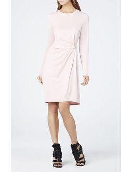 roxie-front-tuck-pleat-long-sleeve-dress by bcbgmaxazria