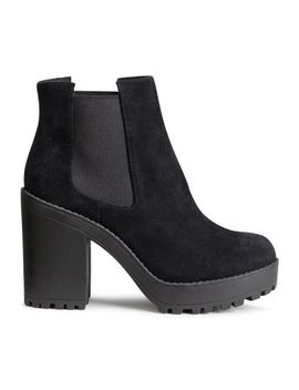 suede-platform-boots by h&m