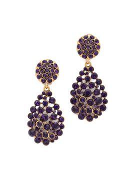 crystal-teardrop-earrings by oscar-de-la-renta